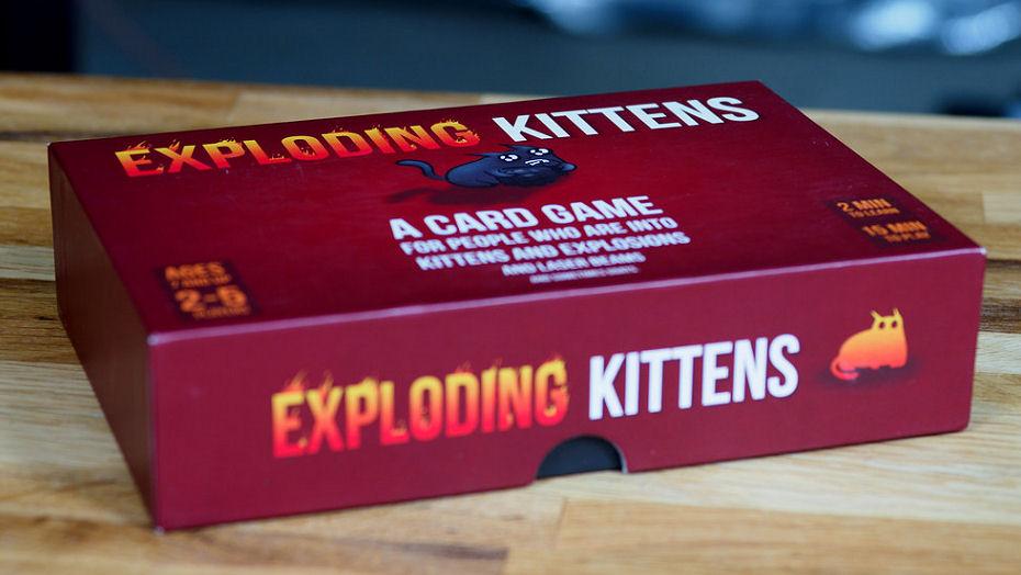 populārākās kāršu spēles exploding kittens